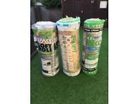 14.5 rolls of loft insulation and 9 loft boards