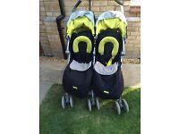 Twin techno Maclaren stroller