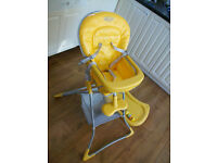 GRACO HIGHCHAIR TEATIME NEW SUNSHINE YELLOW SPOTLESS BABY CHAIR HIGH SEAT BABY HIGH CHAIR