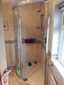 Complete shower 900 x 120 base