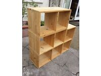 Wooden shelves / storage units x 4, ideal for living room or bedroom