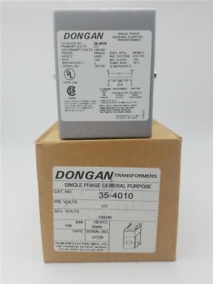 Dongan 35-4010 Single Phase General Purpose Transformers Pri 277v Sec 120240
