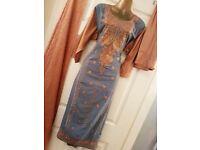 Fully Stitched Orange & Grey Suit - Zee.H.M Fashion
