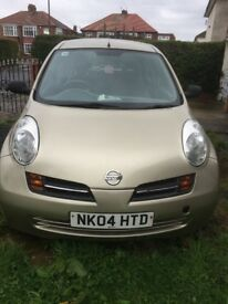 Nissan Micra for sale. Good condition, suitable for learner driver or local driving.