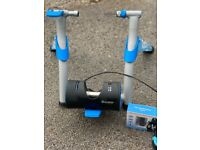 TACX Booster Cycle Trainer Zwift Compatible complete with Bluetooth Speed & Cadence Sensor