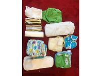 Bundle of Cloth Nappies inc. Miosolo and Bumgenius