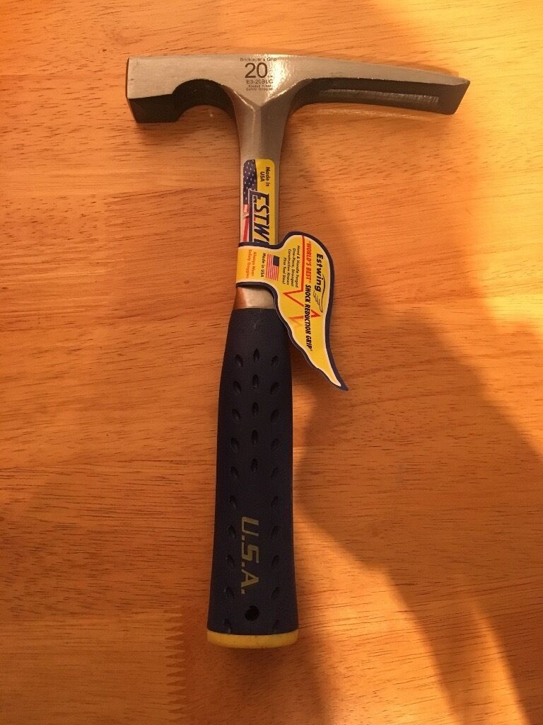 Estwing brick layers grip hammer
