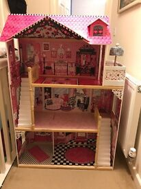 Kidcraft Wooden Kids Doll House with furniture