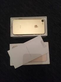 I phone 7 brand new in box 32 g on EE