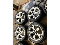"""17"""" GENUINE FORD MONDEO GALAXY FOCUS ALLOY WHEELS SET OF 4 WITH TYRES"""