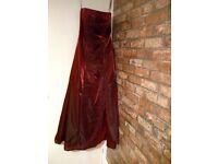 Ladies formal/prom/party dress. **Excellent condition** Wine/burgundy (size UK 8-10)