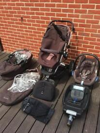 Brown Quinny Buzz 3 in 1 Travel System