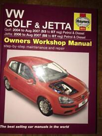 Vw golf & Jetta Haynes Manual