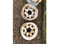 Landrover defender modular steel wheel rims (four)