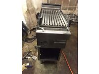 TAKEAWAY FASTFOOD COMMERCIAL CHARCOAL GRILL NATURAL GAS SINGLE BURNER FREE STANDING KEBAB SHOP