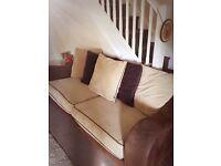 Corner sofa and large 4 seater sofa