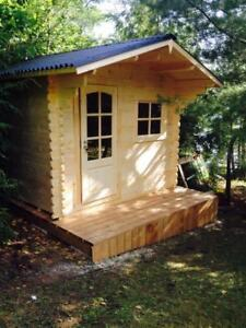 Solid Pine Tiny Timber House, Garden shed, pool cabin,bunkie -  BLOWOUT SALE
