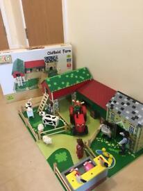 Tidlo John Crane Wooden Farm Set