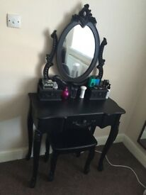 Dunelm black dressing table
