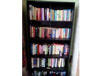 Large black bookcase