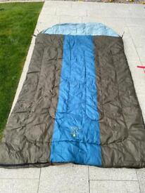 Coleman double Hudson sleeping bag camping