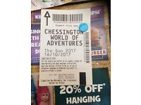 2 chessington tickets 16th October