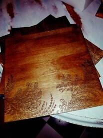 4 wooden place mats