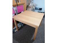 Ikea Bjursta extendable dining table, oak veneer