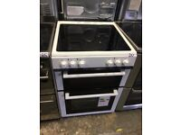 World NW60EDOC 60cm Double Oven Electric Ceramic Cooker in White
