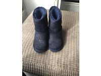 Grls genuine navy uggs boots