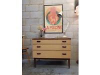 Mid Century Vintage Chest Drawers by Wrighton