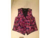 A Floral Purple Folkespeare Waistcoat