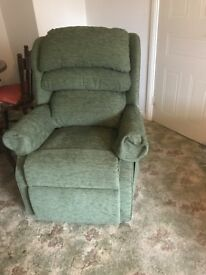 HSL RISE & RECLINE ARMCHAIR - green. Excellent condition!