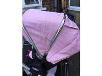 Silver cross pioneer pink & black colour pack raincover 2x liners cup holder