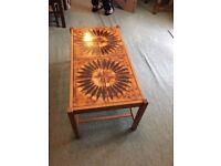 Coffee table 1980s tiled top