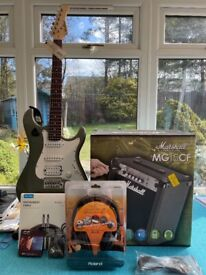 East Coast Electric and Marshall Amp - as new with accessories