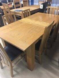 Sold Oak Extentable Table and 6 Matching Chairs