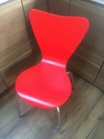 Next Bentwood Dining Chairs - Red (x2)