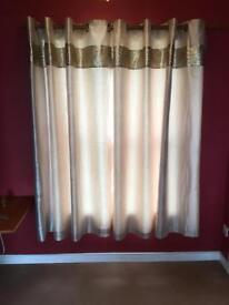 """Gold sequin curtains 66"""" width x 73"""" length"""