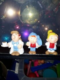Collectible Tetley Figures.