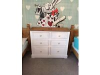 Large set of solid chest of drawers