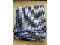 Fabric polyester blue/ white check gingham effect 3.25 m x 120 cm