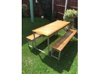 Next table and bench set