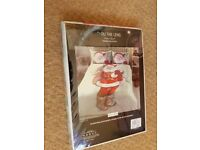 Father Christmas Thru the lens Single Duvet Cover and Pillow Brand New