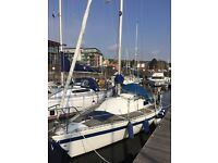 24ft sailing yacht (including berthing paid up until 01/04/18)