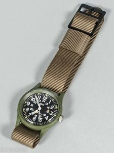 2 x 18mm US Pattern Desert  Military Watch Strap manufactured by MWC of Zürich