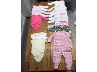 Girls 3-6 sleep suit and vest bundle