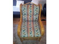 Bamboo / cane conservatory chair armchair excellent condition