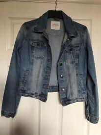 Girls denim jacket size 8