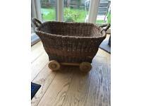 Mamas and papas storage wheeled basket